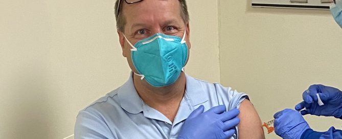 Dr. Guy Receiving COVID-19 Vaccine